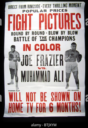 Poster for the first Joe Frazier vs. Muhammad Ali title fight, 1971 - Stock Photo