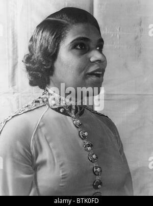 Marian Anderson (1897-1993), African American contralto singing in 1940 portrait by Carl Van Vechten. - Stock Photo