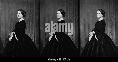 Mary Todd Lincoln (1818-1882), wife of Abraham Lincoln, came from a prosperous Kentucky family divided by the Civil - Stock Photo