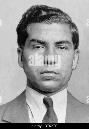 Lucky Luciano (1896-1962) was imprisoned from 1935 to 1946, when his sentence was commuted for his World War II - Stock Photo