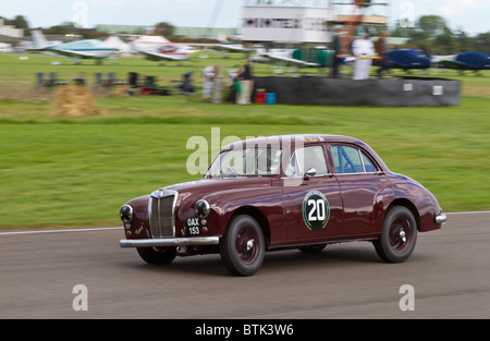 1955 MG Magnette ZA with driver Bruce Chapman. St Mary's Trophy race at the 2010 Goodwood Revival, Sussex, England, - Stock Photo