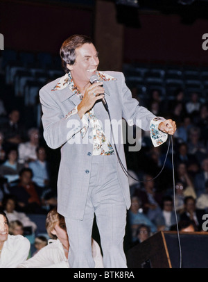 Peter Marshall, 1975, Millrun Playhouse Theater in the Round, Niles, Illinois. - Stock Photo