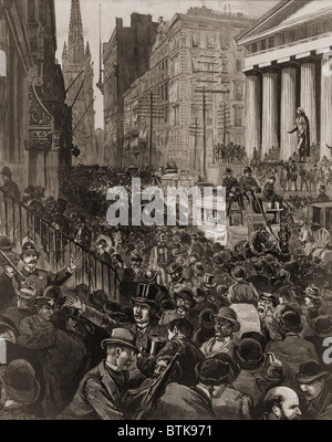 Financial panic on wall street late 1800s stock photo for 14 wall street 20th floor