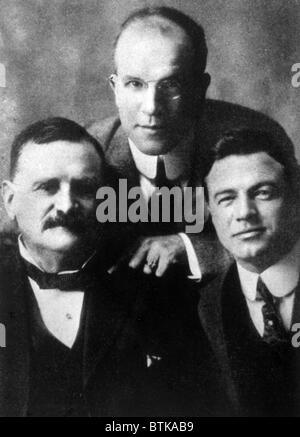 Vitagraph film studio founders William 'Pop' Rock, J. Stuart Blackton, Albert E. Smith, 1900 - Stock Photo