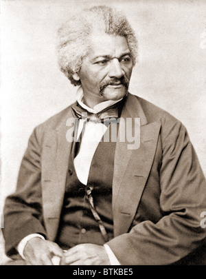 Frederick Douglass (1818-1895), former slave and abolitionist broke whites' stereotypes about African Americans - Stock Photo