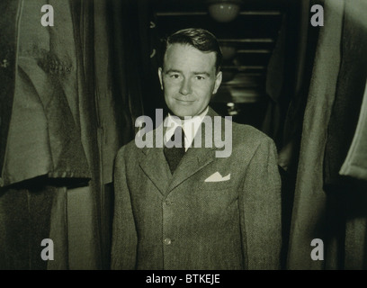 Lew Ayres (1908-1996), American actor, en route to labor camp after declaring himself a conscientious objector in - Stock Photo