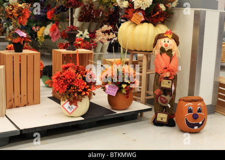 halloween decorations for sale in a canadian store stock photo - Halloween Decorations On Sale