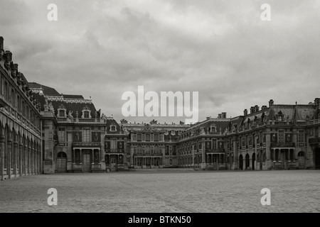 Versailles, the 'Cour de Marbre' - Marble court - Stock Photo