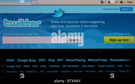 ' twitter ' social networking internet site - Stock Photo