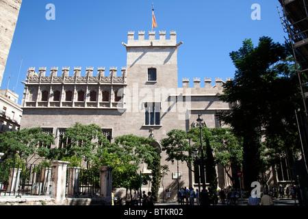 La Lonja, Llotja de la Seda Silk Exchange Valencia Spain - Stock Photo