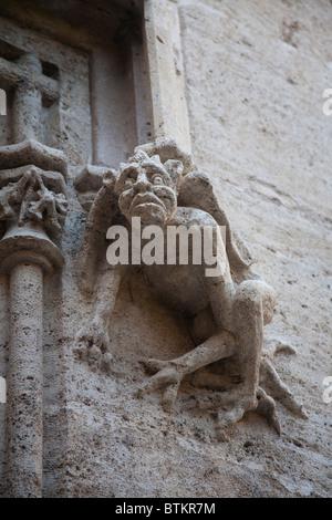 A Gargoyle on the Llotja de la Seda Silk Exchange Valencia Spain - Stock Photo