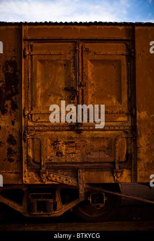 Wagon door detail - Stock Photo