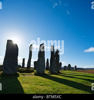 Callanish standing stones, Isle of Lewis, Outer Hebrides, Scotland - Stock Photo