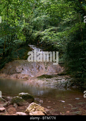 cascade in Autoire in Lot region, France - Stock Photo
