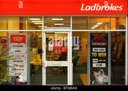 Ladbrokes betting shop bookies, Cardiff wales UK - Stock Photo