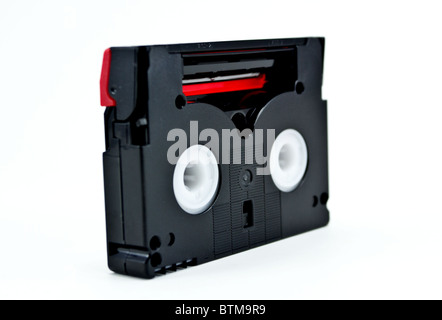 Mini DV Cassette isolated against a white background - Stock Photo