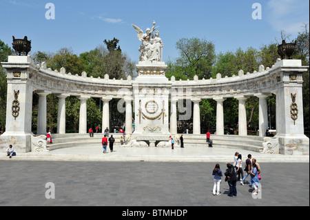 Monument to Benito Juarez in Mexico City - Stock Photo