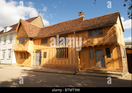 The Little Hall in the Suffolk Village of Lavenham - Stock Photo