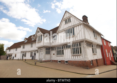 The Guildhall of Corpus Christi in Lavenham which is owned and run by the National Trust - Stock Photo
