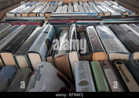 Collection of Secondhand Books for sale - Stock Photo