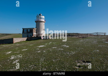 BEACHY HEAD, ENGLAND, 24 NOV 2010 - The Belle Tout Lighthouse at the edge of the cliffs at Beachy Head. EDITORIAL - Stock Photo