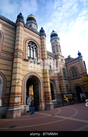 The Great Synagogue in Dohány Street, Budapest, is the largest in Europe. It was built in Moorish revival style - Stock Photo