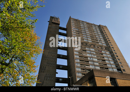 Balfron Tower, Brownfield social housing estate, Poplar, Tower Hamlets, East London E14, United Kingdom - Stock Photo