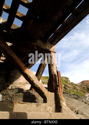 Old Lifeboat house, Polpeor Cove Lizard Cornwall England UK - Stock Photo