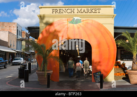 Entrance to the Farmer's Market and Flea Market in the Fall, French Market District, French Quarter, New Orleans, - Stock Photo