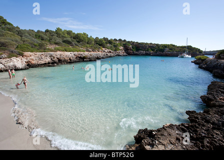 Cala Sa Nau beach. Mallorca Island. Spain - Stock Photo