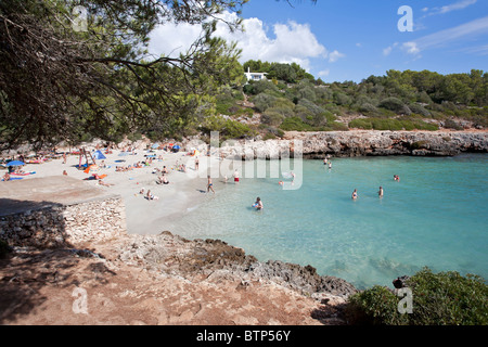 Cala Sa Nau beach. Mallorca Island. Spain - Stock Photo
