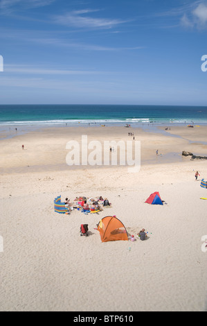 Porthmeor Beach, St. Ives, Cornwall. - Stock Photo