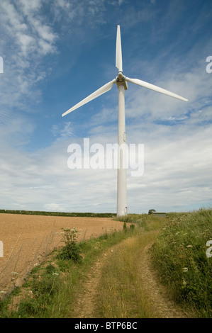 Wind Turbine, Cornwall, UK. - Stock Photo