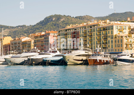 Port, Nice Harbour, Cote d'Azur, France - Stock Photo