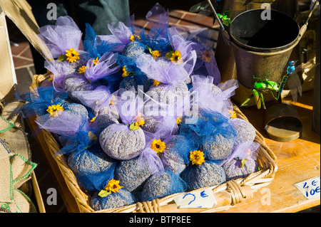Lavender, Provence Herbs for sale, Market in the Old Town, Nice, Cote d'Azur, France - Stock Photo