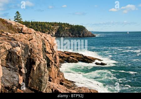 Coastal landscape, Ocean Drive, Acadia NP, Maine, USA