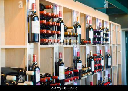 Wine Bottles, Saint Emilion, Bordeaux, Aquitaine, France - Stock Photo