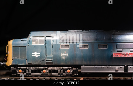 Class 55 Deltic Diesel Locomotive in weathered condition - Stock Photo