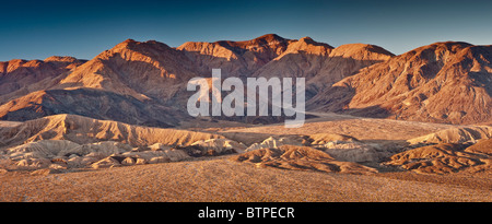 Owlshead Mountains over Confidence Hills in Mojave Desert from Jubilee Pass Road, Death Valley National Park, California, - Stock Photo