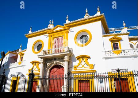Plaza de Toros, Bullfighting ring, Seville, Andalucia, Spain - Stock Photo