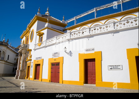 Plaza de Toros, Bullfighting ring, Seville, Andalucia, Spain - Stock Photo