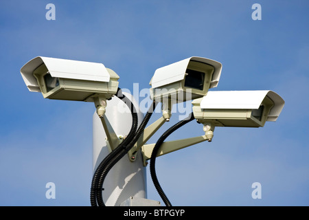 Security surveillance camera - Stock Photo