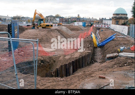 The Old Radcliffe Infirmary  Land Building Site - Stock Photo