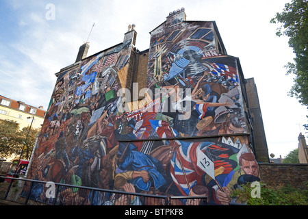 London,Shadwell The Battle of Cable Street mural October 2010 - Stock Photo