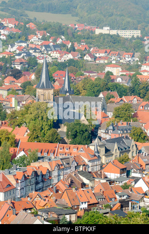 Germany, Harz, view over Wernigerode - Stock Photo