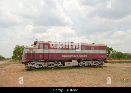 Australia, Adelaide River, Railway Museum, old train engine - Stock Photo