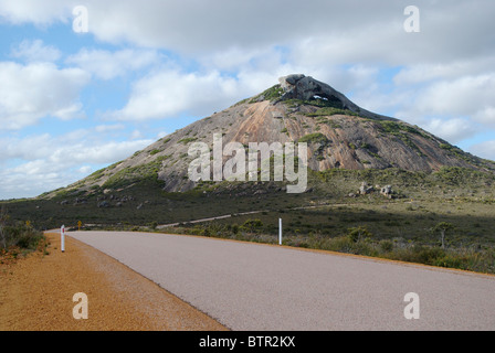 Australia, Esperance, Cape Le Grand National Park, Road and mountain - Stock Photo