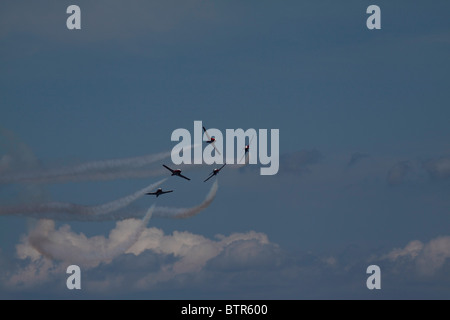 Canadian Forces 431 Air Demonstration Squadron CT-114 demo team - Stock Photo