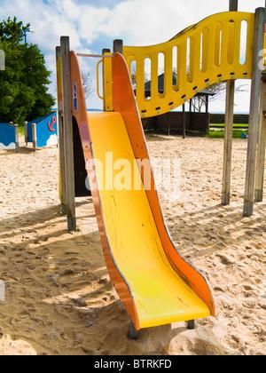 Slide in children's playground - Stock Photo