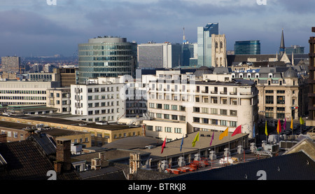 Skyline of Brussels - Stock Photo